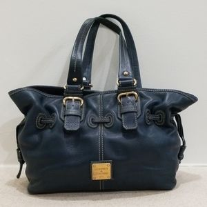 Dooney & Bourke blue leather Chiara satchel